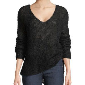 Rag & Bone Freda Alpaca-Blend V-Neck Sweater Black